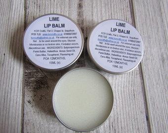 Moisturising Lip Balm Tin, Handmade Lip Balms, Flavoured Lip Balm, Skincare for her, 15g Lip Balm Tin
