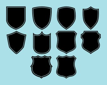 SVG | DXF | PNG Cut Files, Silhouette Shields Cutting File, Silhouette Shield Logo Svg Files, Silhouette Shield Cricut File Instant Download