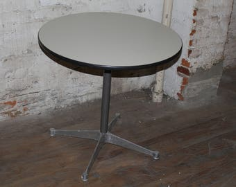 Herman Miller Eames aluminum group table with white laminate top