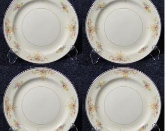 "FOUR Homer Laughlin Eggshell Nautilus Rochelle Dinner Plates 9 7/8"" Set of 4 EXCELLENT!"