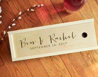 Wine Box, Handcrafted, Personalized Wine Box, Wood Wine Box,  Wedding Wine Box, Ceremony Wine Box, Anniversary, Custom Engraved Wine Box