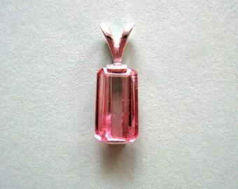 BI-Color TOURMALINE PENDANT  **  Pink Tourmaline  ** Sterling Silver