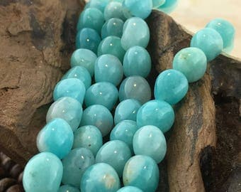 Natural Peruvian Opal Smooth Nugget Beads
