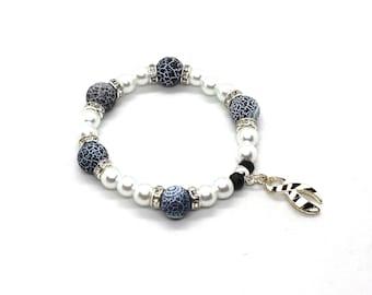 EDS Zebra Gift, EDS Awareness, Ehlers-Danlos Awareness, Rare Disease Awareness Bracelet, Carcinoid Awareness, EDS Bracelet, Eds Gift, Eds