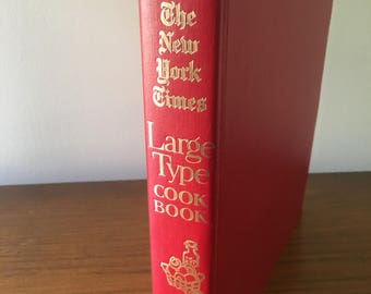 1968 New York Times Large Type Cookbook