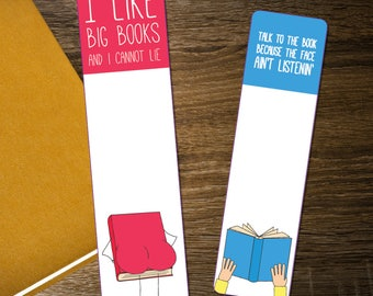 2 Funny Bookmarks DIGITAL / PRINTABLE Bookmarks