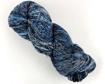Malabrigo Mechita Storm 667 Speckled Merino Yarn Superwash Merino Wool Hand-dyed Fingering Single Ply Yarn 420 Yards 100 Gms / 3.53 Oz