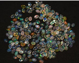 40% Discount 6x4mm Calibrated Ethiopian Opal Cabochon, Welo Opal, Oval Shape Cabochon, 20 Pieces