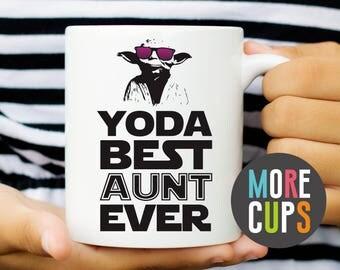 Yoda Best Aunt Ever Mug | Yoda Star Wars Mug | Funny Mug | Aunt Mug | Typography Mug | Gift for Her | Funny Mom Gift Mug | Coffee Cup