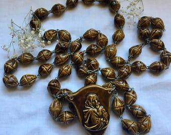 Ceramic Wall Rosary Bead made in Italy