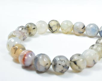 14mm Tonal Gray Crazy, Lace Agate Round Stone Beads, Sold by 1 strand of 15pcs, 2mm, 165.0grams/pk,Lace Gray Agate, Round Stones,