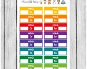 ONE DOLLAR WEDNESDAY - work boxes - colourful - planner stickers