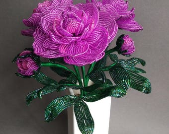 French Beaded Peonies