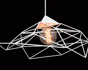 Custom Geometric Lamps, Sculptures and Installations