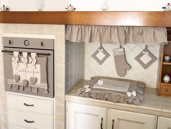 Set cucina con copri forno copri fuochi guanto da forno - Cucina senza fornelli ...