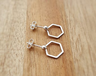 Honeycomb Earrings, Sterling Silver Honeycomb Earrings, Silver Honeycomb Earrings, Honeycomb, Bee, Earrings, Gift For Her, Alexia Jewellery