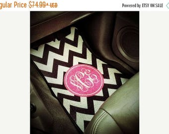 SALE Personalized Monogram Car Mats for Front (Set of 2) - Customize with Pattern, Color and Frame