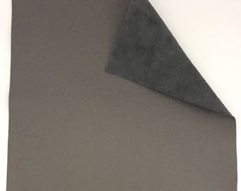 Gray Leather / Grey Leather / Genuine Leather / Gray Leather Piece / Gray Leather Fabric