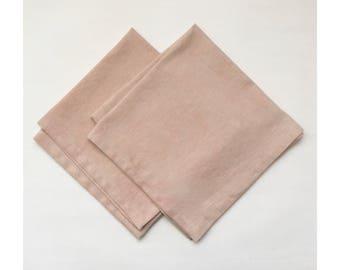 Set of 2 Avocado Dyed Linen Napkins