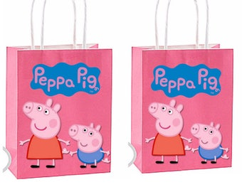 Peppa Pig Party Favor Bag~ Peppa pig Inspired Decorations & Decor instant download