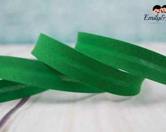 Bias tape green 20mm
