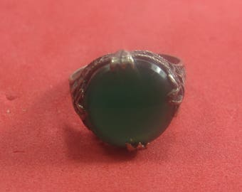 J-70 Beautiful  Vintage Ring sterling silver size 5 1/2 variscite stone