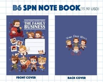 SPN B6 Notebook + Stickers