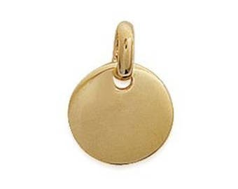 Small round medal plated 10 mm gold