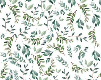 Green floral crib sheet, leaves, baby crib sheet, baby bedding, baby girl bedding, greenery, floral bedding, tropical nursery, leaves