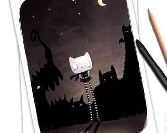 Poster * Misty Miaw & Mr Oneye * / Print / A4 / Limited Edition