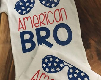 4th Of July Shirt, 4th of July Bodysuit, July 4th Shirt, Patriotic Shirt, American Bro Shirt, 4th Of July Shirt for Boys