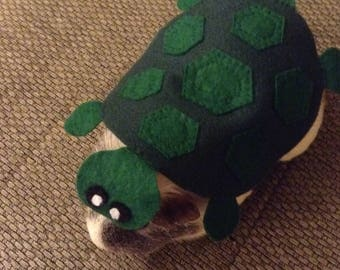 Guinea pig costume- tortoise. Small pet costume. Cute handmade unique