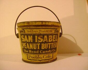 Old San Isabel Peanut Butter Tin