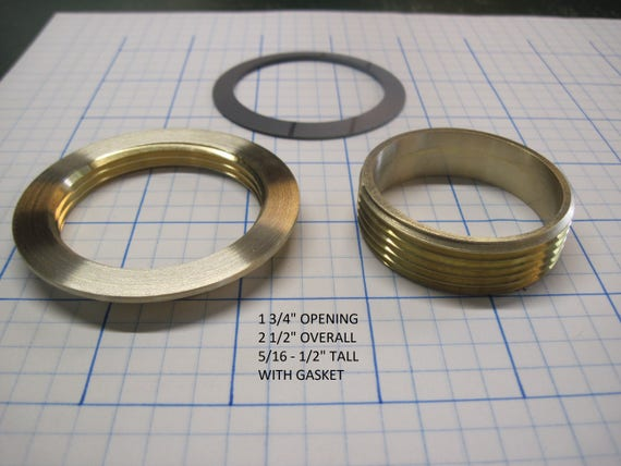 "Threaded Brass Inserts 1 3/4"" Opening"