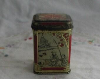 Vintage Japanese Design Miniature Tin