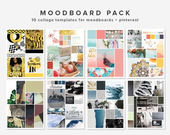 10 Moodboard templates | Photoshop Templates | Blogging Template | Photo Collage Template | Photo Layout | PSD Layered | INSTANT DOWNLOAD