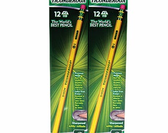 Dixon Ticonderoga #2 Sharpened Pencil, 72 Count