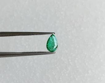ON SALE Natural Emerald Faceted Pear 6x4 mm. Zambian Origin Emerald. Excellent Color Good Quality. Price per piece.