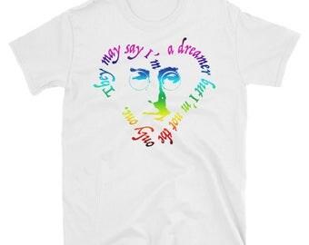 Dreamer John Lennon T-Shirt—Rainbow