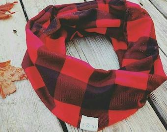Child Infiniti scarf, Buffalo plaid scarf, Infiniti scarf