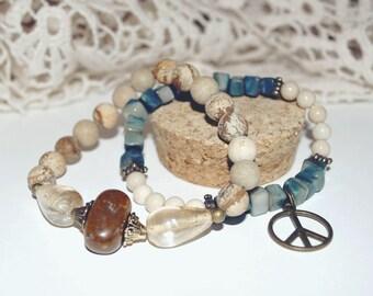 Duo of peace bracelets