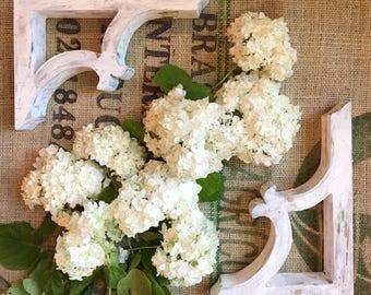 1 set of vintage style corbels. Corbels farmhouse decor, vintage inspired white washed corbels.
