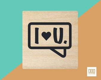 I Love You Textbox - 1.5cm Rubber Stamp (DODRS0209)