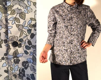 Unisex flower cotton fabric Liberty Shirt