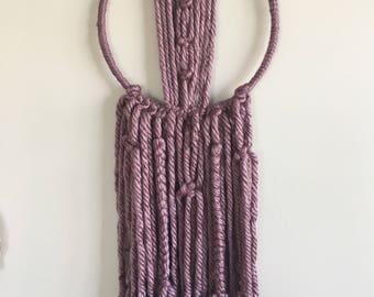 MACRAME WALL HANGING, medium purple