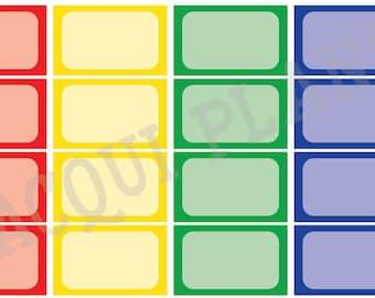 Half Size Boxes-Rainbow