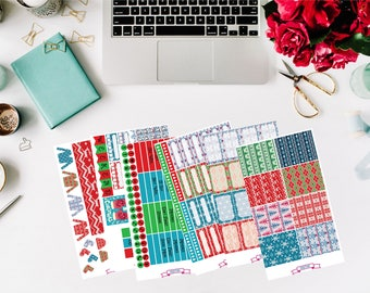 Ugly Christmas Sweater Planner Sticker Kit
