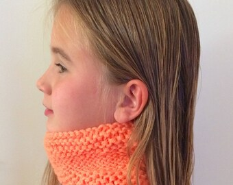 Snood, neck kids color orange