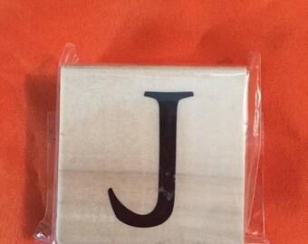 Letter J Wood Stamp