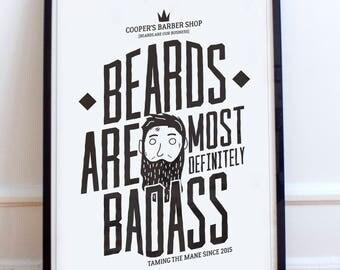 Coopers Barber Shop - Beards are most definitely badass. mens grooming, beard, moustache, vintage, facial hair, beards, Beard oil, fake ad